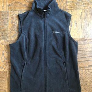 Columbia Black Fleece Vest (XL)